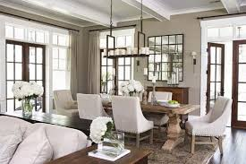rustic dining room and living room interior bo