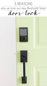 3 reasons why we love our Schlage Sense Smart Deadbolt | Smart door ...