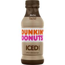Mocha latte (espresso + milk + mocha flavor swirl) + blueberry flavor shot toasted french vanilla: Dunkin Donuts Mocha Iced Coffee 13 7 Fl Oz Food 4 Less