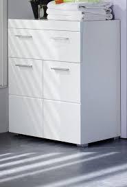 Badezimmer Kommode Weiß Hochglanz Tiefzieh Amanda