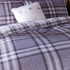 more views catherine lansfield kelso check duvet set