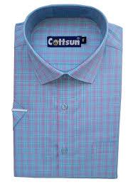 Chex Shirt Design Formal Shirt 100 Cotton Chex Blue Red Half 44 Regular Fit