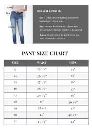 Plus Size Jeans Chart Find Your Perfect Fit With Kancan Usa Size Chart Check Your