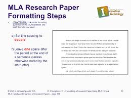 Line Spacing For Mla Research Paper Essay Format Example