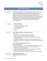 Resume Templates Baker Pastry Chef Examples Example Of Resumes