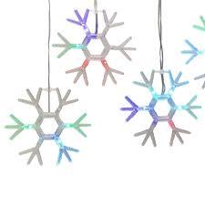Kurt Adler Snowflake Icicle Fairy Lights With Rgb Led Lights