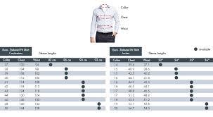 Van Heusen Fit Guide Size Chart Van Heusen Australia