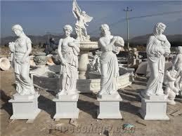 size china white marble lady statue