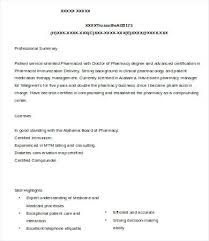 Sample Resume Of Pharmacist Sample Pharmacist Manager Resume Sample