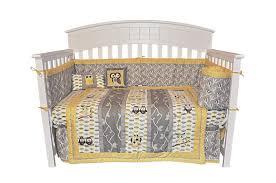 dk leigh bedding sets dk leigh owl 7 piece gender neutral crib bedding set