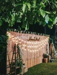 rustic wedding backdrops