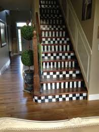 #MacKenzie Childs Staircase... #Checkerboard Painted Stairs, Painted  Staircases, Painted