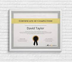 Free Certificate Of Completion Certificate Templates For Word