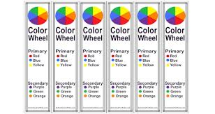Introduction kids to primary and secondary colors. Easy Printable Color Wheel Bookmarks For Kids