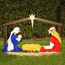 Large Outdoor Christmas Ornaments Ornaments: Nativity Yard Decorations