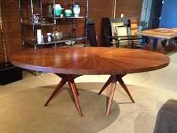 furniture fascinating mid century modern round dining table wooden round mid century dining table
