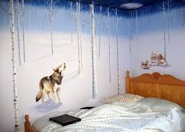 Wolf Bedroom Decor Wolf Bedroom Decor Mural Idea By Themed Bed On Add Some  Romance To