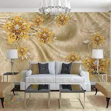3D Effect - Diamond Floral Wallpaper