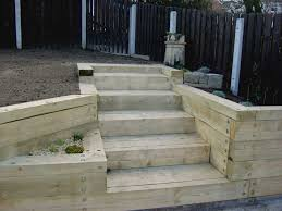 Small Picture Railway Sleepers like the corner flower pot Landscape Ideas