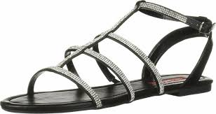 Peggy Black | Unionbay Womens Flat Sandals ⋆ Firmaalemi