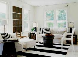 awesome black white striped wool rug black white fabric cushion white fabric sofa cover white