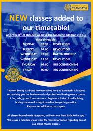 group exercise timetable november 2018 pdf