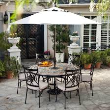 patio dining sets on rectangular table with umbrella hole tile top patios chairs large umbrellas for hanging outdoor shade market big stand deck