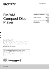 sony cdx m20 manuals manuals and user guides for sony cdx m20 we have 5 sony cdx m20 manuals available for pdf operating instructions manual specifications