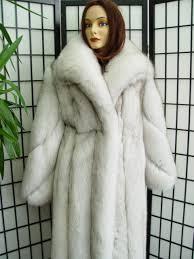 super brand new norwegian blue fox fur coat for women