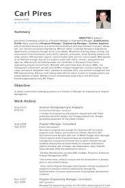 Director Of Engineering & Programs Resume samples