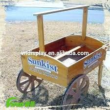 wooden flower cart ideas old carts
