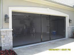 Garage Door Screen Motorized Roll Up Kit Privacy 16x7 Screening ...