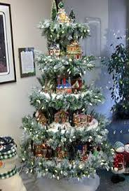 Christmas Tree Village Display Stands Christmas village display I need to make this and put it on my 1