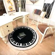 round rug in living room black and white piano pattern carpet for living room modern round round rug in living room