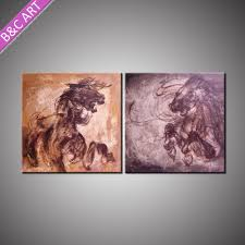 home decor items wholesale price handpainted horse oil canvas