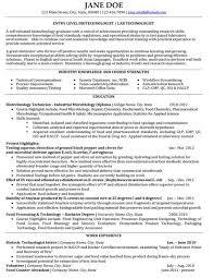 Biotech Resume Examples Biotech Resume Template Under Fontanacountryinn Com