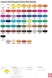 Royal Talens Colour Chart Talens Extra Fine Quality Gouache