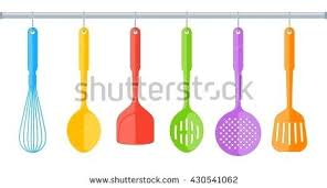 staggering cooking colorful kitchen utensils stock vector colorful