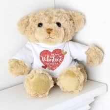 personalised valentines teddy bear by sy bloom as seen on tv notonthehighstreet