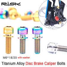 <b>RISK 6PCS M5*16</b>/<b>18mm</b> Bike Stem Handlebar Fixing <b>Titanium Ti</b> ...