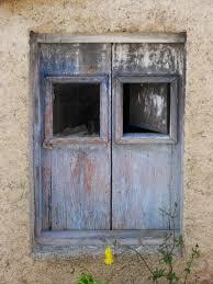 Kostenlose Foto Holz Haus Fenster Alt Mauer Verlassen Blau
