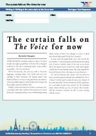 now worksheets year 8 the curtain falls on the voice for now writing 4
