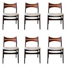 vine danish teak dining chairs set of six by erik buch