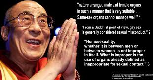 Dali lama and gays