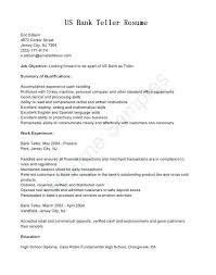 Entry Level Banking Resumes Bank Resume Template Reluctantfloridian Com