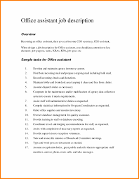 Medical Office Assistant Job Description Resume Best Of Fice Clerk