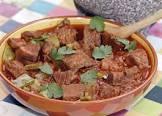 beef stew with cactus   carne guisada con nopalitos