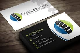 Chiropractic Business Cards Chiropractor Business Cards 7558