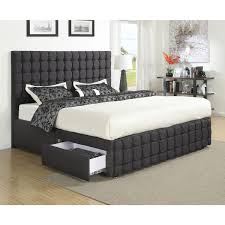 contemporary queen bed with storage drawers — all about storage