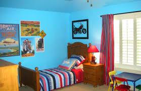 Little Boy Bedroom Decorating Navy Blue Striped Rug Orange Bookshelf Boys Bedroom Ideas For
